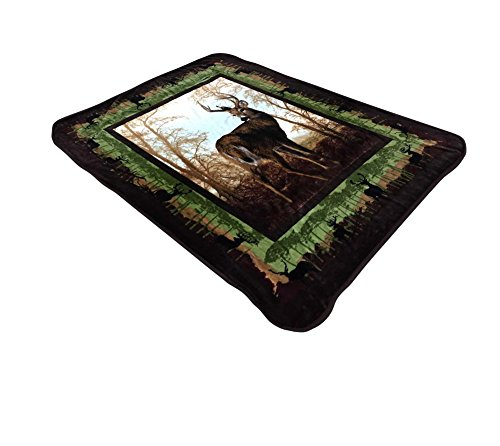 All American Collection New Super Soft Animal Printed Throw Blanket Anna (Queen Size, Deer)