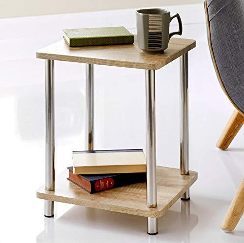 Generic el Legs Newvar - Scaffale elegante effetto quercia, gambe in acciaio inox effetto quercia Svar