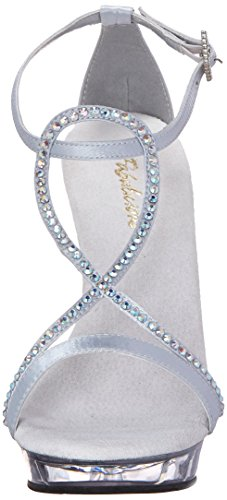 Sandal Dress 156 Fabulicious Silver Lip Women's qtcIZ