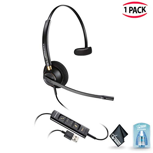 Plantronics ENCOREPRO 500 USB Series Corded USB Headset with Accessories