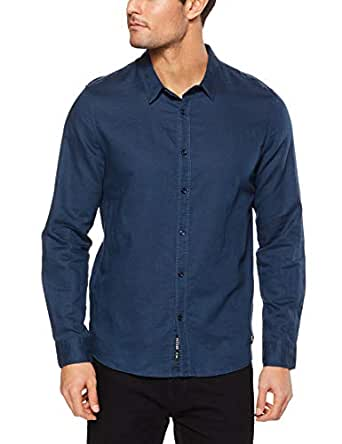 Mossimo Men's Workers LS Shirt, Navy(Blue), XS(X-Small)