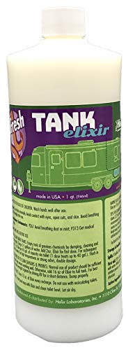 - RV & Marine Holding Tank Treatment eliminates Clogs and Odors, Eco-Friendly Microbes digest Waste and all Toilet Paper Brands. Black & Grey water tank cleaner. 32 treatments BioFresh Tank Elixir
