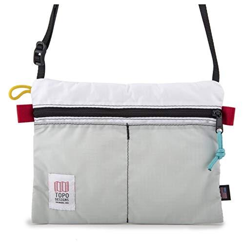 Topo Designs Accessory Shoulder Bag (White/Silver ...)