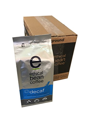 Ethical Bean Coffee - Decaf Whole Bean 12 oz (Pack of 6)