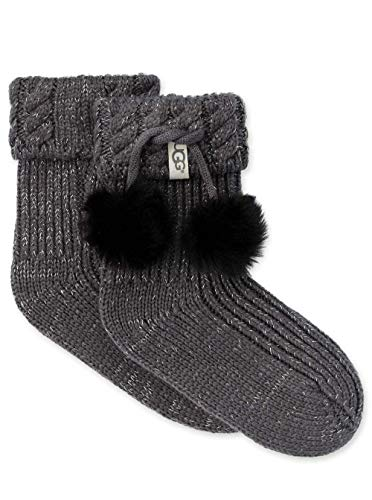 UGG Girls' Little Rahjee Pom Rainboot Sock, Charcoal/Silver, for sale  Delivered anywhere in USA