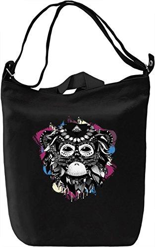 Ethnic Monkey Borsa Giornaliera Canvas Canvas Day Bag| 100% Premium Cotton Canvas| DTG Printing|