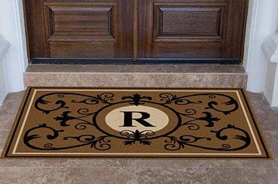 Edinburgh Estate Doormat - Monogrammed Suede R 4 x 6