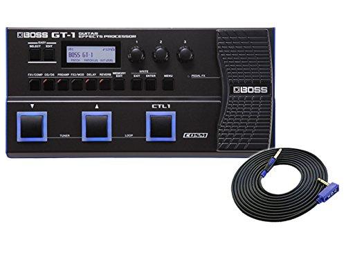 [해외] BOSS(보스) 기퍼터 멀티 이펙터 GT-1 + 3m 기퍼터 케이블 VOX VGS-30 세트