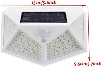 Gartenbeleuchtung, 100 LEDs, PIR-Bewegungsmelder, Solar-Wandleuchte für den Außenbereich