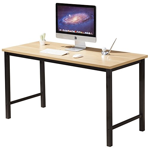 Gaming Table – CUBOC Computer Desk Office Desk, 55 Inch Large Writing Gaming Desk Computer Table for Working and Gaming, Beech
