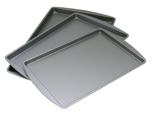 OvenStuff Non-Stick Set of 3 Cookie Pans