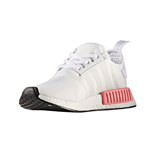 adidas Original Women's NMD_R1 Trainers, Boost Technology BY9952, BY9647 White/Pink