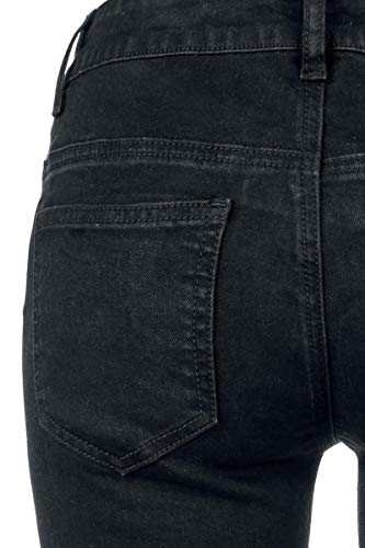 Pantalones Negro Forplay Estilo Tejanos Motero dCHqw