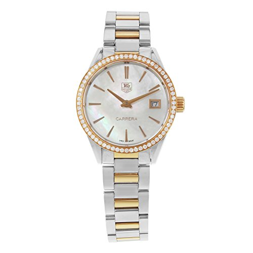 Tag-Heuer-Carrera-Mother-of-Pearl-Dial-Diamond-Bezel-Steel-and-18kt-Rose-Gold-Ladies-Watch-WAR1353BD0779