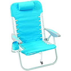 Rio Beach Lace-up Aluminum Backpack Chair, Turquoise