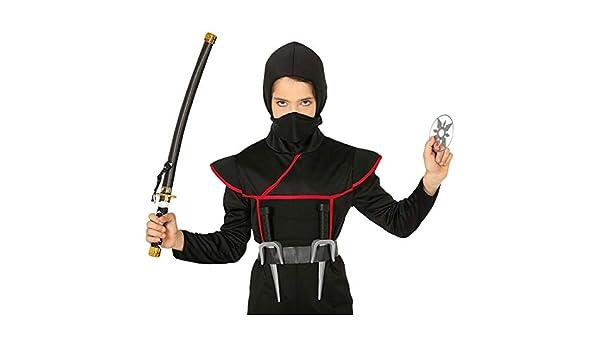 NET TOYS Genial Set de Ninja con Espada, Cuchillo y Shuriken ...