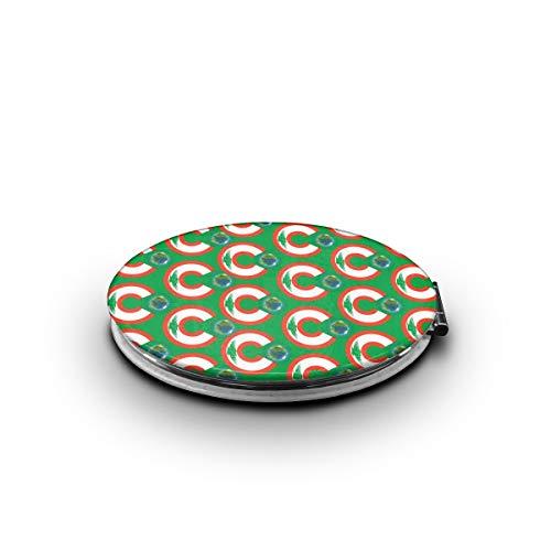 ZORITO Makeup Mirror Lebanon Flag Eat The Earth Double-Sided Portable Folding Mirror -
