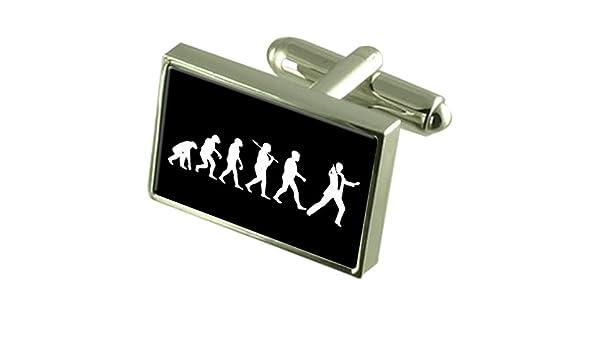 Evolución Ape Man Secret Agent Gemelos Crystal Clip de Corbata Bar ...