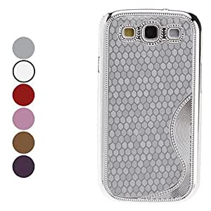 GHK - Hexagon Pattern Hard Case for Samsung Galaxy S3 I9300 (Assorted Colors) , Silver