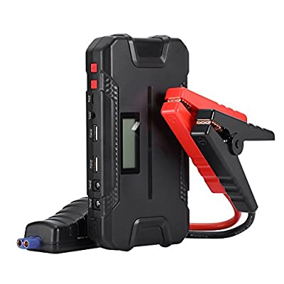 ZEEPIN 400A Peak 12000mAh Multifunctional Car Jump Starter ( up to 4.0L gas engine ), Auto Power Pack Battery Booster with Power Bank Phone Charger & Emergency LED Light