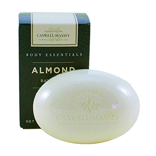 Caswell-Massey Body Essentials Bath Soap, Almond, 5.2 (Moisturizing Scented Bar Soap)