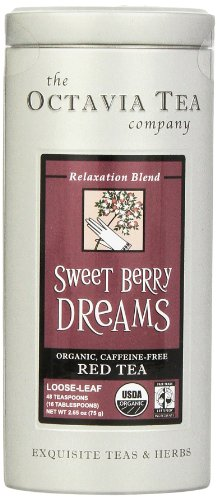 Octavia Tea Sweet Berry Dreams (Organic, Caffeine-Free Red Tea/Rooibos) Loose Tea, 2.65 Ounce Tin Sweet Organic Berry