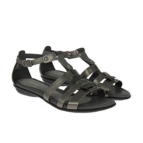 Hush Puppies Women's Sandals Nina Nishi Graphite Leather UK3 Graphite