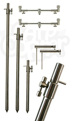 1 x Adjustable Short 25-40CM 3 Rod Solid Stainless Steel Carp Fishing Buzz Bar