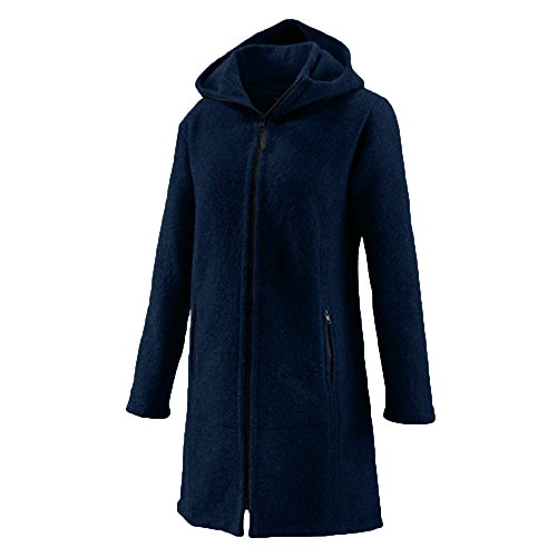 Mufflon Damen Walk-Mantel Jana Schurwolle Nightblue 34s2EBt