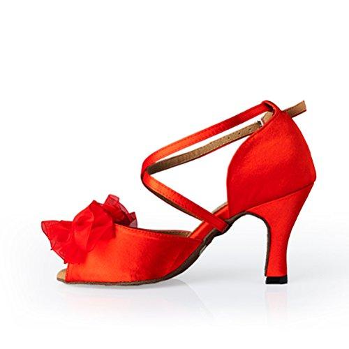Bcln Donna Open Toe Sandali Tacchi Latino Salsa Tango Pratica Scarpe Da Ballo Da Ballo Con 3,3 Tacco