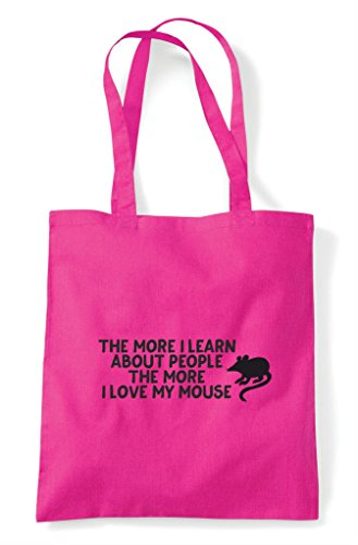 Bag The Learn Mouse About I Love More Lover Funny Pets Fuschia My People Person Tote Animal Shopper qqr6g4wxE