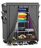 69' Portable Closet Storage Organizer Clothes Wardrobe Shoe Rack with Shelves