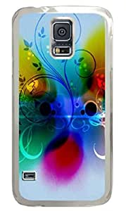 Abstract Color Plants PC Case Cover for Samsung S5 and Samsung Galaxy S5 Transparent