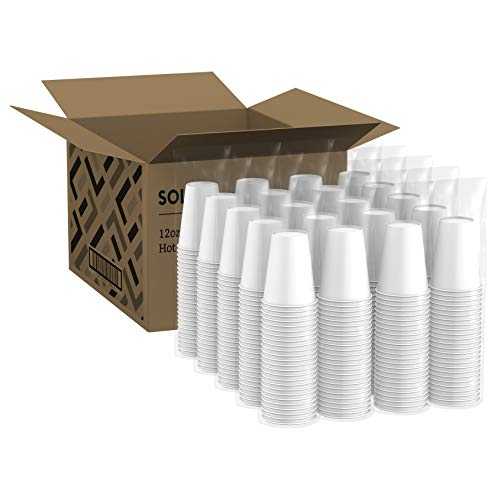 Amazon Brand - Solimo 12oz Paper Hot Cup, 500 Count by Solimo (Image #2)