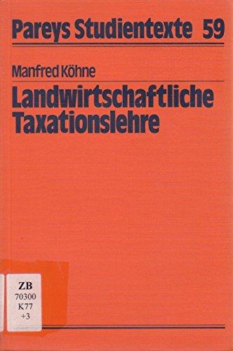 landwirtschaftliche-taxationslehre