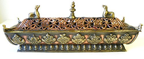 bowlsofnepal F705 Stunnig Tibetan Pagoda Style Incense Burner Hand Crafted in Nepal by bowlsofnepal
