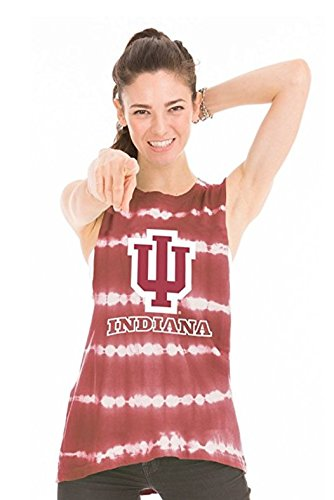 Venley NCAA Indiana Hoosiers Women's Bodda Bamboo Muscle Tank Top, Medium, Crimson