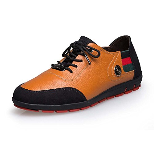ZXCV Zapatos al aire libre Los hombres ocasionales de los hombres de negocios calzan la primera capa respirable de los zapatos de cuero de la tendencia de la manera Marrón