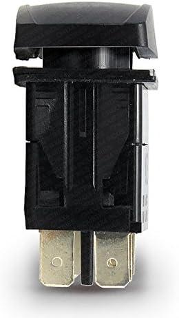 Green Led Horizontal CH4X4 Rocker Switch Bed Speakers Symbol