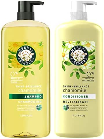 Herbal Essences, Shampoo and Sulfate Free Conditioner Kit, Shine Collection, 33.8 fl oz, Kit