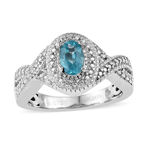 Shop LC Delivering Joy Solitaire Ring Oval Apatite Gift Jewelry for Women Size 9 Cttw 0.4
