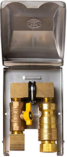 (Burnaby Manufacturing BBQ-SS-75 Gas Outlet Box with 3/4-Inch Inlet, 3/4-Inch Outlet and Stainless Steel Enclosure)