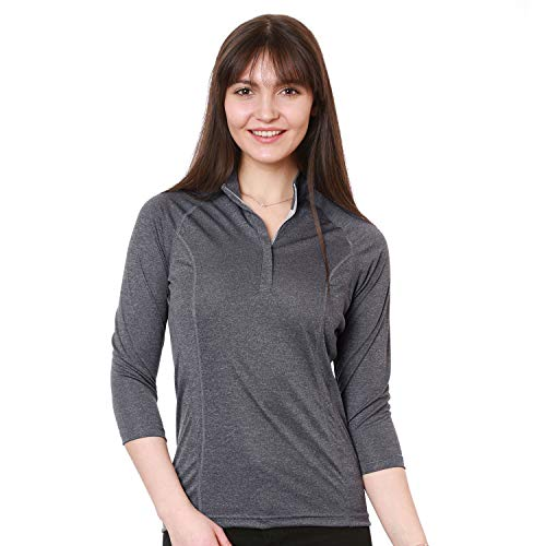 Nozone Tuscany 3/4 Sleeve Sun Protective Women's Equestrian Shirt in Charmix, X-Large