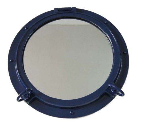 Hampton Nautical  Navy Blue Porthole Mirror, 24