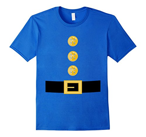 Garden Gnome Costume (Mens Funny Elf or Garden Gnome Halloween Costume T-Shirt Small Royal Blue)