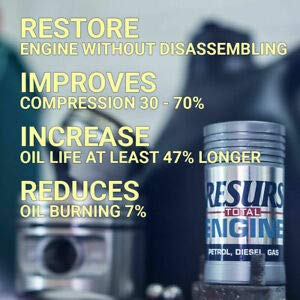 Resurs Total 50 g Petrol Engine/Diesel Engine/LPG Engine/Car Engine Restorer Nano Technology Oil Additive/Engine Additive/Engine Treatment/Engine Restoration/Nano Restorer/Remetalizer