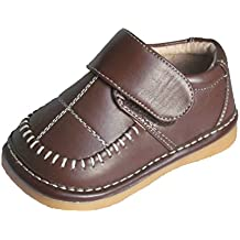 Squeaky Shoes Toddler Boys Brown Leather Dress Shoes