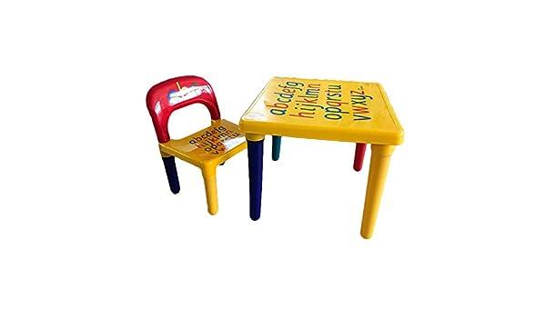 Juego de sillas de mesa para niños, diseño de letras, color ...