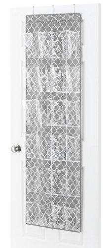 Whitmor Over the Door Shoe Bag 24 Pocket (Door Trellis Over)