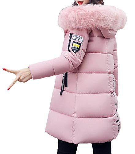 Hoodie Pattern1 Mid Down XINHEO Long Jacket Relaxed Velvet Women Thickened Zipper 6vqSYv